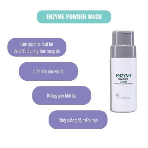 công dụng bột rửa mặt dr pluscell enzyme powder wash