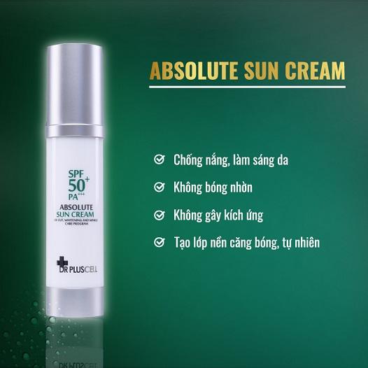 công dụng Kem chống nắng dr pluscell absolute sun cream