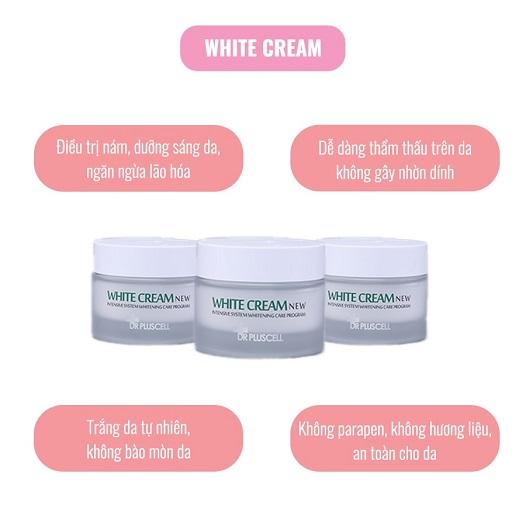 công dụng kem dưỡng trắng da dr pluscell white cream