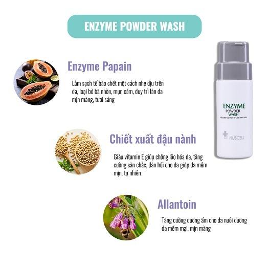 thành phần bột rửa mặt dr pluscell enzyme powder wash