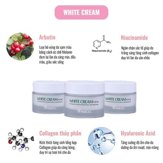 thành phần kem dưỡng trắng da dr pluscell white cream