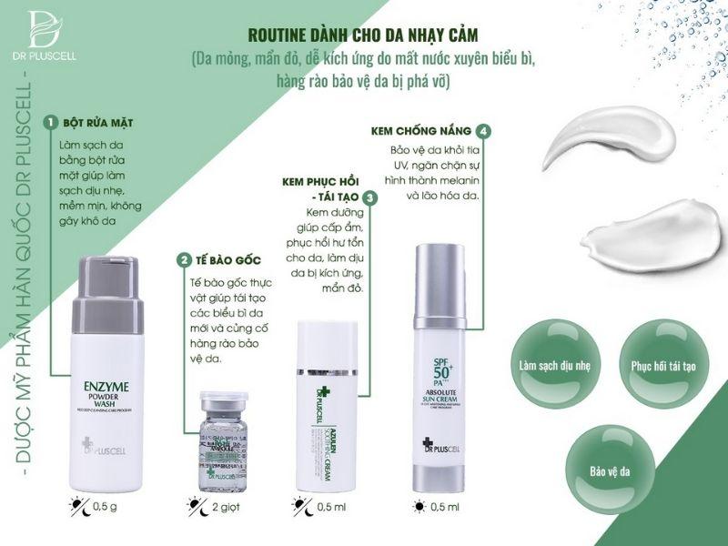 routine-skincare-cho-da-nhay-cam-dr-pluscell