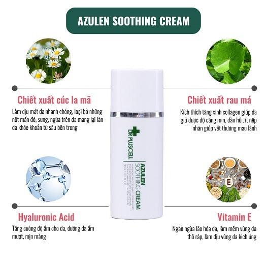 Thành phần Kem dưỡng da Dr Pluscell Azulen Soothing Cream cho da nhạy cảm