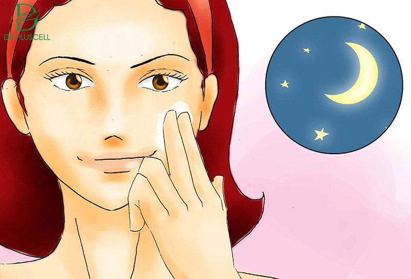 dùng retinol vào ban đêm
