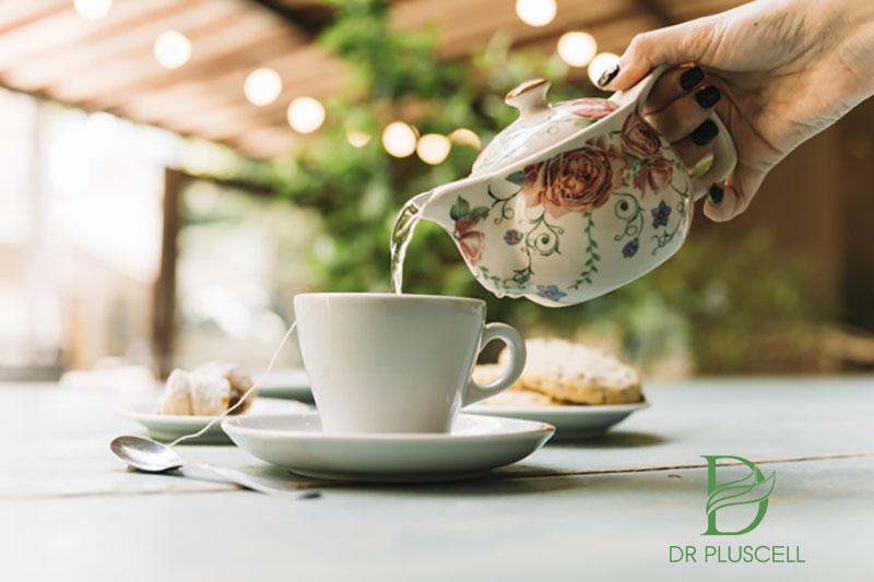 trà xanh giải độc kem trộn