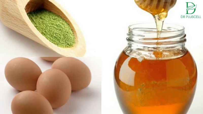Trà xanh, mật ong, trứng