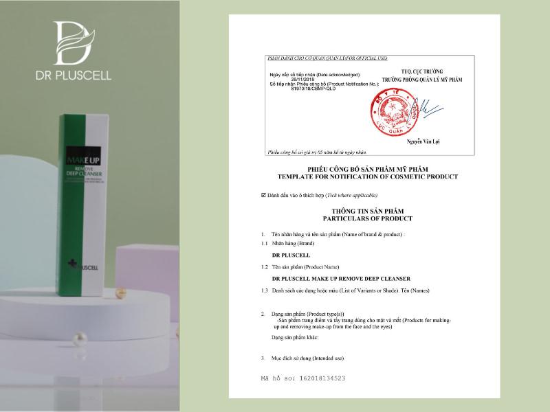giay-cong-bo-dau-tay-trang-dr-pluscell-makeup-remove-deep-cleaner