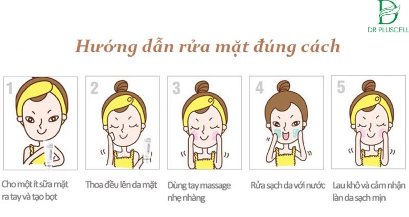 Các bước dùng sữa rửa mặt đúng bước cho làn da sạch mịn