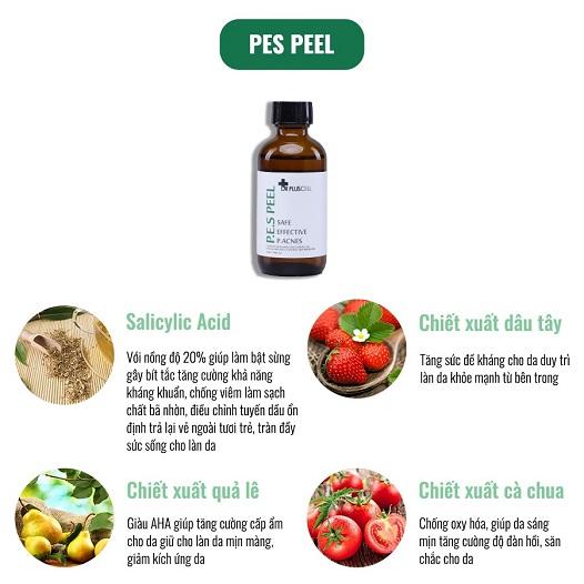 thành phần dung dịch thay da sinh học pes peel dr pluscell