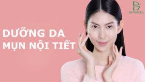 Dưỡng da ngăn chặn mụn nội tiết hoành hành