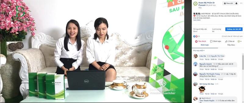 live stream giới thiệu chương trình