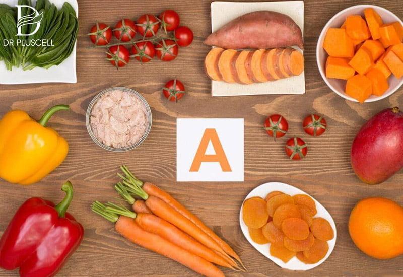 vitamin A, retinol dưỡng da trắng sáng