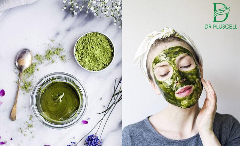trị mụn giảm dầu cùng trà xanh