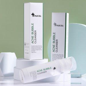bọt rửa mặt dr pluscell acne bubble cleanser